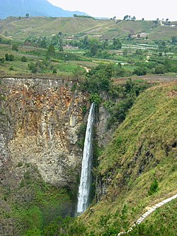 Sipiso-Piso Waterfall in Tongging, Karo Regency