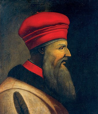 After serving the Ottoman Empire for nearly 20 years, Gjergj Kastrioti Skanderbeg deserted and began a rebellion against the empire that halted Ottoman advance into Europe for 25 years.