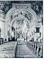 Skaručina, notranjost cerkve 1912.jpg