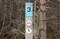 Ski and cycle trail marker, Inshriach Forest - geograph.org.uk - 1564534.jpg