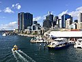 Skyline of Sydney CBD and International Towers Sydney across Cockley Bay, Darling Harbour in 2016, 01.jpg