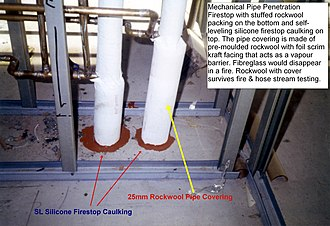 Firestop - Image: Sl silicone pipe covering