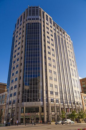 Beneficial Financial Group - Beneficial Financial Group Tower, also known as the Gateway Tower West, at City Creek Center in Salt Lake City