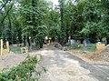 Smíchov, Malostranský hřbitov, od Plzeňské, stavební práce.jpg