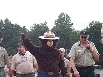 Smokey Bear - Smokey Bear at the 2005 National Scout Jamboree