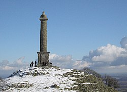 Snow at Rodney's Pillar (365m) - geograph.org.uk - 1718310.jpg