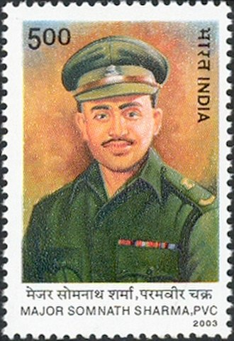 Somnath Sharma - Sharma on a 2003 stamp of India