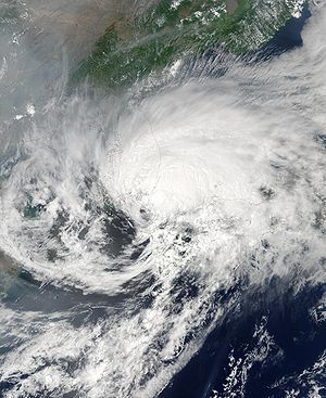 Typhoon Soudelor (2003) - Tropical Storm Soudelor near South Korea and Japan on June 19