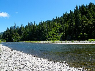 Benbow Lake State Recreation Area - Image: South Fork Eel River at Benbow Lake