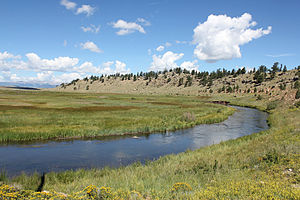 South Fork South Platte River - The river near Hartsel, Colorado.