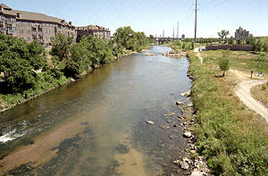 South Platte River in Denver, Colorado
