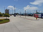 South at bus stands at Murray Central station, Murray, Utah, Jul 16.jpg