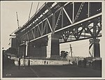 Southern approach platform of the Sydney Harbour Bridge, 1928 (8282713535).jpg