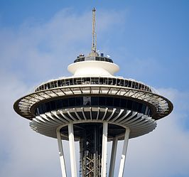 De top van de Space Needle