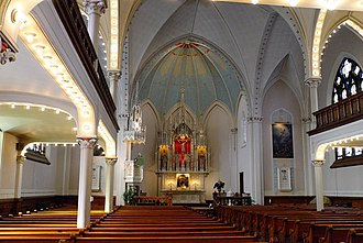 Saint John's Evangelical Lutheran Church (Milwaukee, Wisconsin) - Image: St. John's Evangelical Lutheran Church, Milwaukee, Wisconsin, Interior, North View