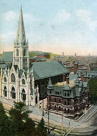 Saint Mary's University (Halifax) - Saint Mary's was established in Glebe House (the brick building on the right).