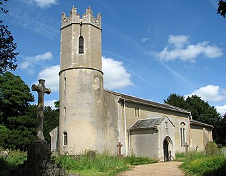Clavering hundred - St Andrew's Church in the village of Raveningham - once the largest settlement in Clavering hundred