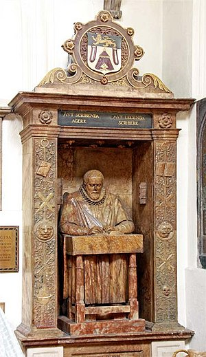 London and Middlesex Archaeological Society - John Stow's monument in St Andrew Undershaft