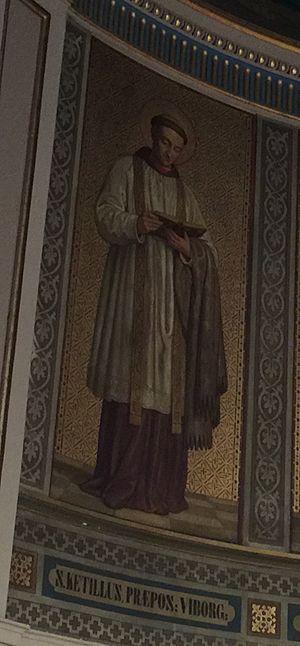Saint Kjeld - Image of St. Kjeld from St. Ansgar's Catholic Cathedral in Copenhagen.
