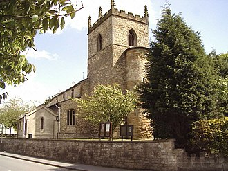 Anglo-Saxon turriform churches - Image: St Mary's Church, Broughton, Lincolnshire