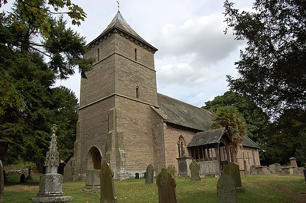 St Mary's, Credenhill, in Herefordshire where Traherne was rector St Marys Church, Credenhill (geograph 2557447).jpg