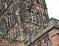 St Peter's Church Tower (detail), Wolverhampton - geograph.org.uk - 671096.jpg
