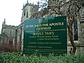 St Thomas the Apsotle Church, Leesfield, Sign - geograph.org.uk - 1161347.jpg