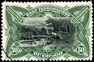 Stamp Belgian Congo 1894 50c