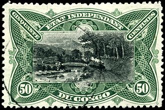 Postage stamps and postal history of the Democratic Republic of the Congo - An 1894 stamp of the Congo Free State