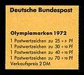 Stamps of Germany (BRD), Olympiade 1972, Blockausgabe 1972, Markenheft, Umschlag, Titelseite.jpg