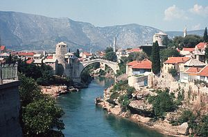 Stari Most - Bridge photographed 1974