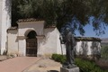 Statue of Father Junipero Serra at Old Mission San Juan Bautista in San Juan Bautista, a city in San Benito County, California LCCN2013634735.tif