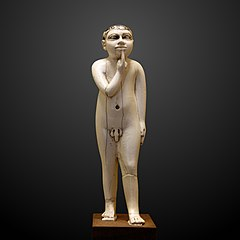 Statuette of a naked child-E 322