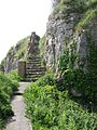 Steps descending down to an old limestone quarry - geograph.org.uk - 1345788.jpg