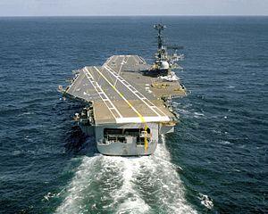 Stern view of USS Independence (CV-62) 1979.JPEG