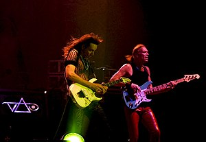 Billy Sheehan - Sheehan in a concert with Steve Vai, 2005