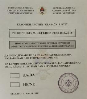 2016 Republika Srpska National Day referendum