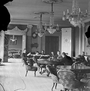 Stockholms nation - The meeting and banquet hall of the nation in the 1880s