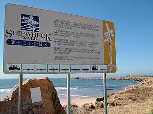 Stockton, New South Wales - Image: Stockton shipwreck sign