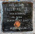 Stumbling block for Paula Mayer (Pantaleonstraße 18)