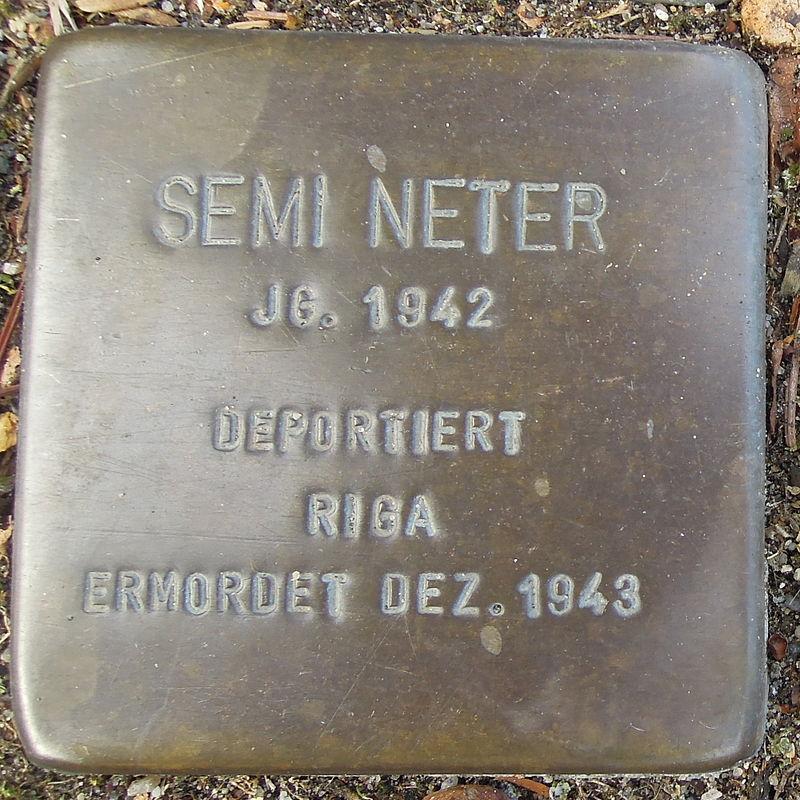 Stolperstein Bad Bentheim Dorfstraße 21 Semi Neter