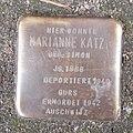 Stolperstein Dahn Marktstraße 16 Marianne Katz.jpg