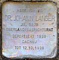 Stolperstein Salzburg, Dr. Johann Langer (Rainerstraße 4).jpg