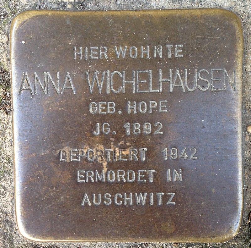 Stolperstein Verl Hauptstraße 33 Anna Wichelhausen