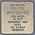 Stolperstein für Babette Oppenheimer (Heidelberg).jpg