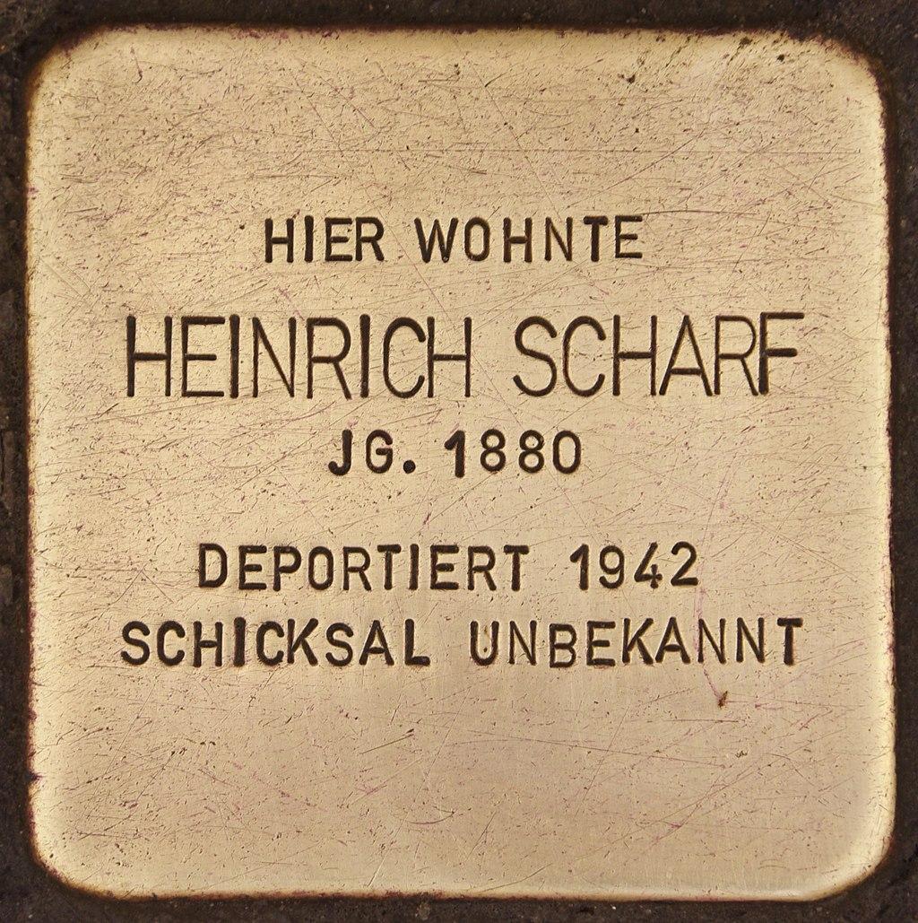 Stolperstein für Heinrich Scharf (Deggendorf).jpg
