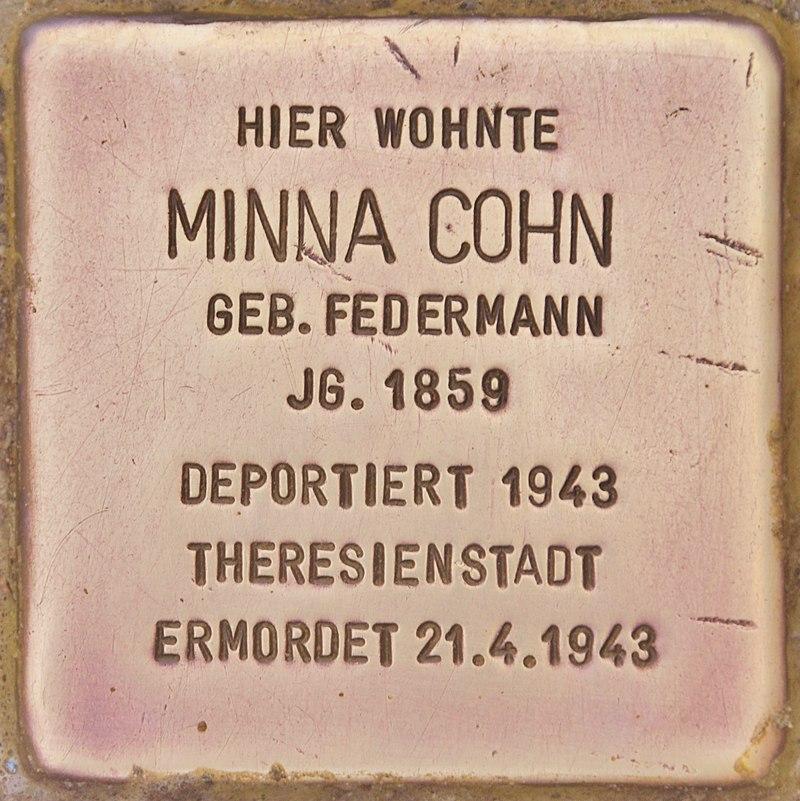 Stolperstein für Minna Cohn (Zehdenick).jpg