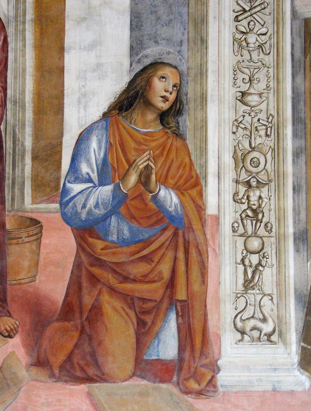 Storie di s. benedetto, 03 sodoma - Come Benedetto risalda lo capistero che si era rotto 04