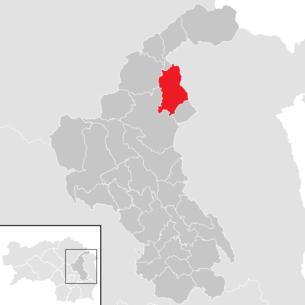 Lage der Gemeinde Strallegg im Bezirk Weiz (anklickbare Karte)