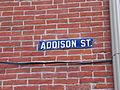 Street sign at Addison Street in Philadelphia.JPG